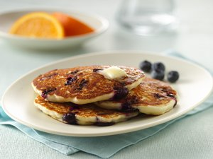 Gluten Free Blueberry Sour Cream Pancakes
