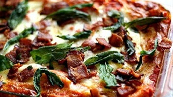 Roasted Butternut Squash Lasagna with Goat Cheese, Bacon, & Fried Sage ...