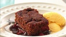 Cherry Chocolate Pudding Cake Recipe
