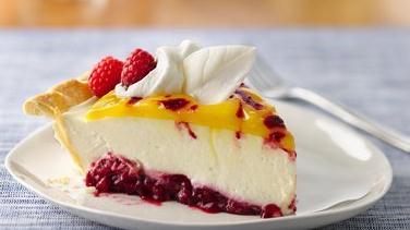 Double Lemon Raspberry Swirl Pie