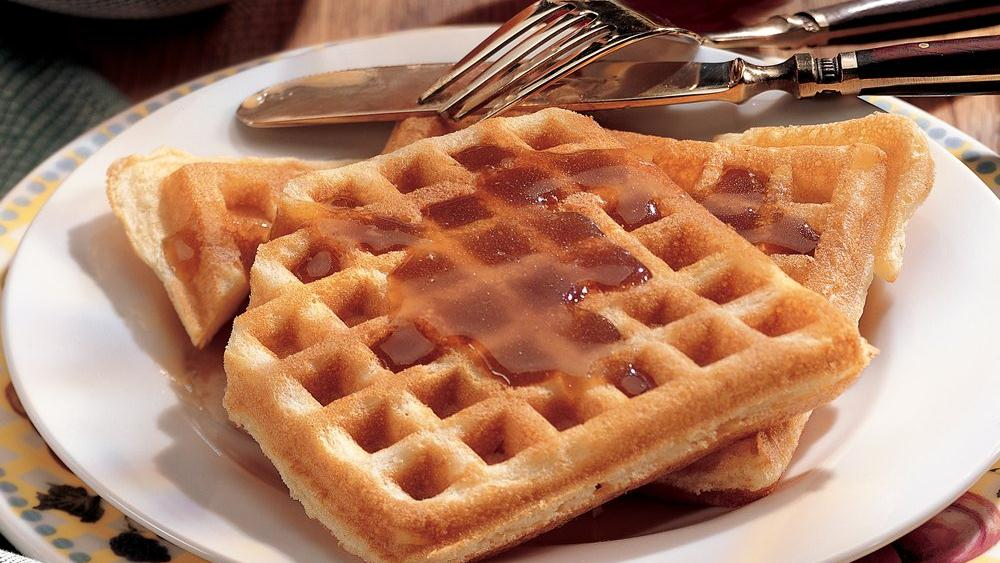 Orange Waffles with Maple-Orange Syrup recipe from Pillsbury.com