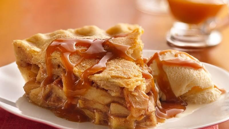 Caramel-Apple Pie recipe from Betty Crocker