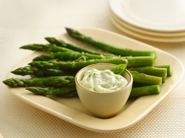 Image of Asparagus With Basil Pesto Mayonnaise, Betty Crocker