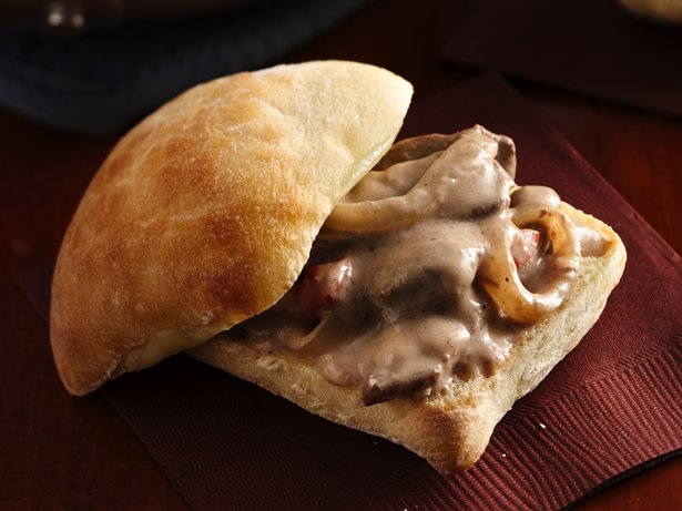 Steak and Mushroom Sandwich