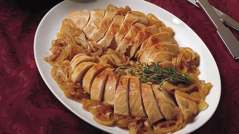 Turkey Tenderloins with Caramelized Onions