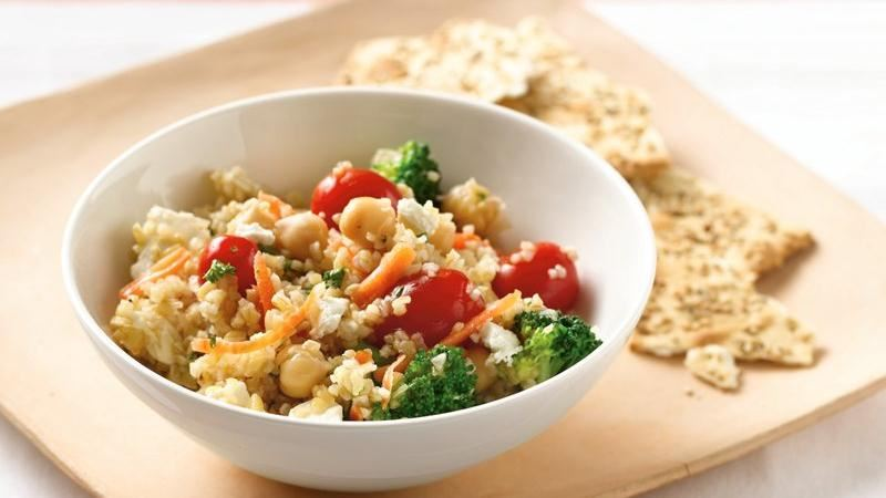 Mediterranean Vegetable Bulgur Salad