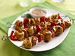 Grilled Chicken Kabobs with Thai Peanut Sauce