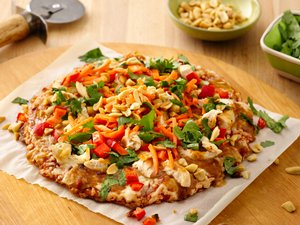 """Thai Chicken Party"" Pizza"