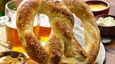 Victory Pretzel with Dipping Sauces Recipe
