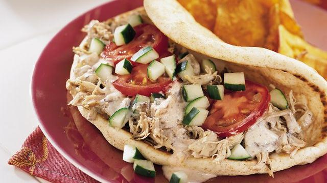 Greek Chicken Pita Folds