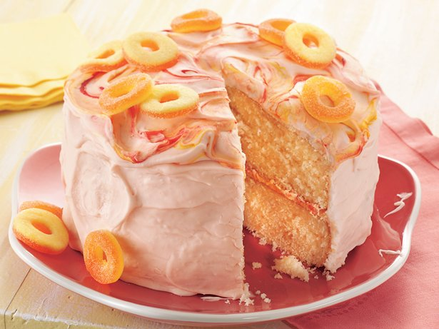 Peach Cake With Sour Peach Frosting Recipe From Betty Crocker