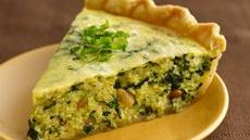 Pesto-Quinoa-Spinach Quiche Recipe