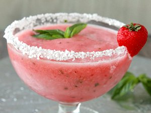 Strawberry Basil Margaritas