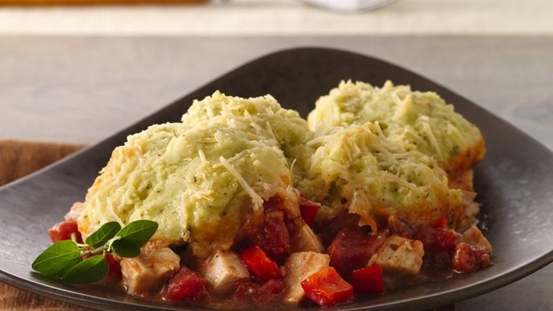 Italian Chicken Pesto Pot Pie recipe from Betty Crocker
