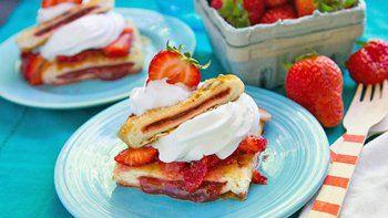 Grilled Toaster Strudel Strawberry Shortcake