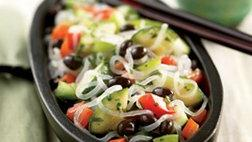 Black Bean Vegetable Noodle Stir-Fry