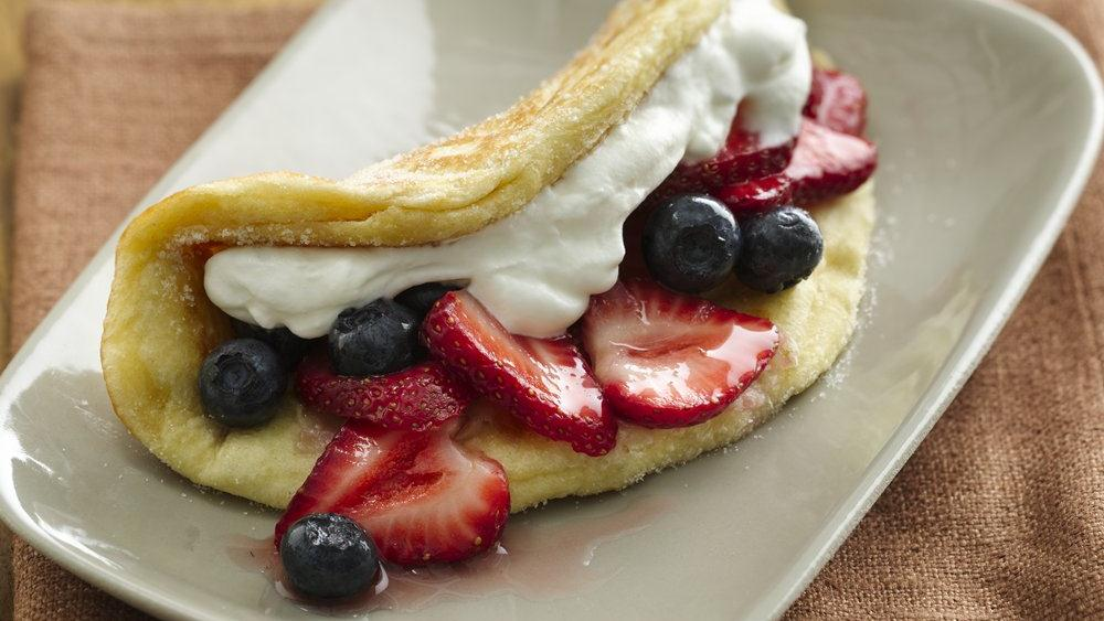 Red White and Blue Dessert Tacos
