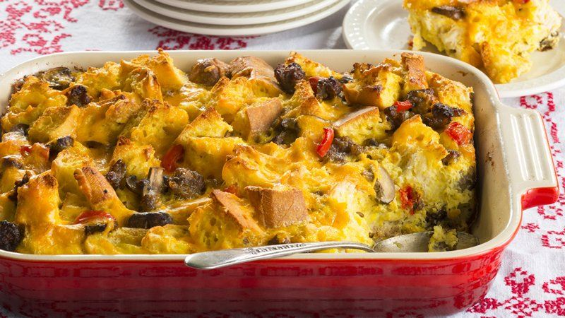 Christmas Morning Breakfast Casserole recipe from Betty Crocker