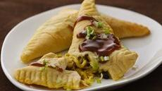 Indonesian Chicken Turnovers with Spicy Peanut Sauce Recipe