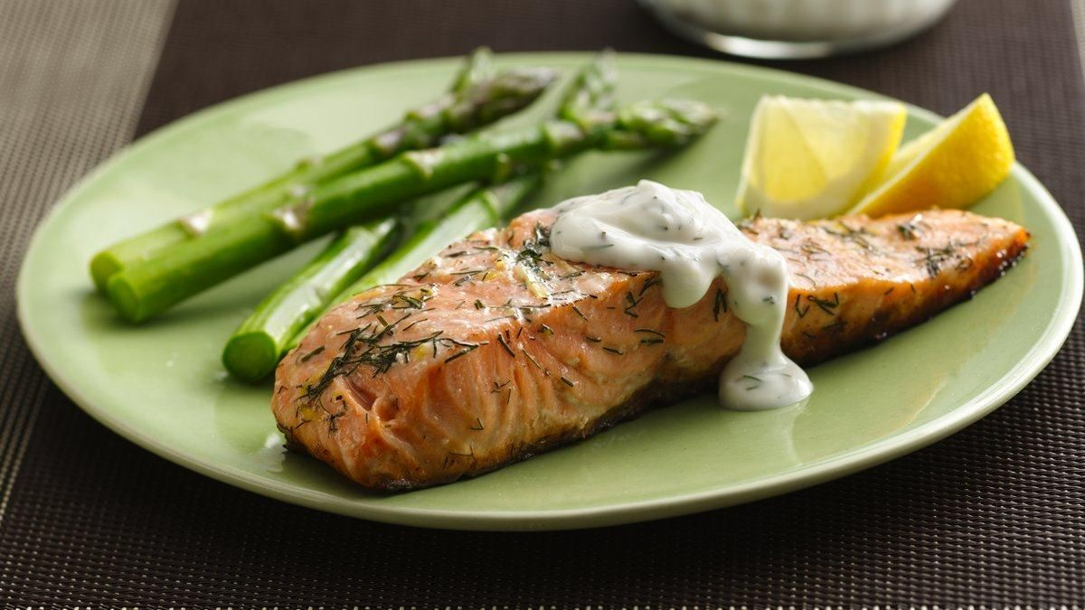Grilled Salmon with Lemon Dill Sauce - Life Made Delicious