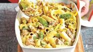 Healthified Tuna and Rigatoni Bake