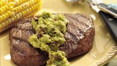 Steaks with Chipotle Guacamole Recipe