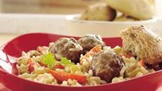 Meatballs and Creamy Rice Skillet Supper Recipe