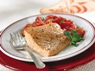 Healthified Salmon with Marjoram-Dijon Tomatoes