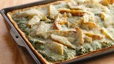 Caramelized Pear, Spinach and Chicken Pizza Recipe
