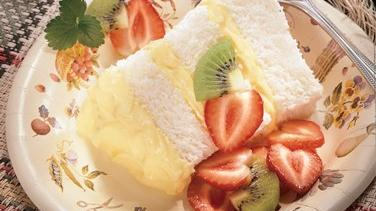 Luscious Lemon Angel Cake