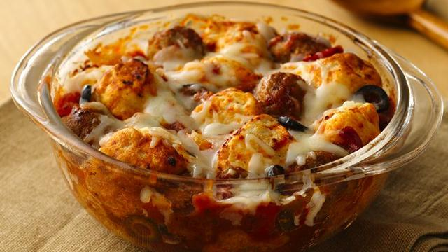 Italian Meatball Biscuit Bake