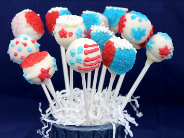 Red, White and Blue Cake Pops recipe from Betty Crocker