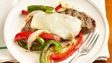 "Grilled ""Philly"" New York Strip Steaks Recipe"