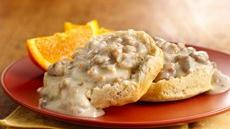 Sausage Gravy over Grands!® Biscuits Recipe