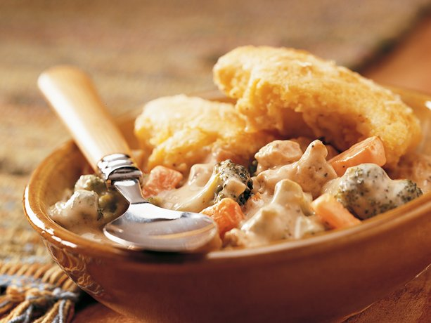 Cornbread-Topped Chicken Pot Pie