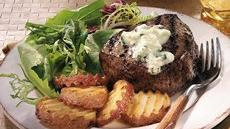 Steaks with Blue Cheese Butter Recipe