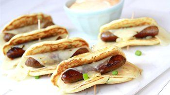 Spicy Green Onion Pigs in a Blanket with Sriracha Dipping Sauce