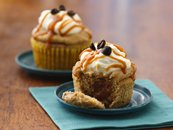 Banana-Coffee Caramel-Filled Cupcakes
