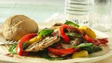 Grilled Turkey-Spinach Salad Recipe