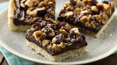 Candied Hazelnut Truffle Bars Recipe
