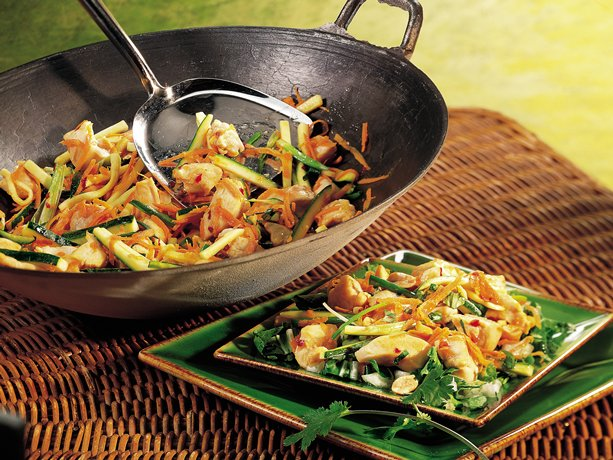 Gluten Free Stir Fried Thai Chicken Salads
