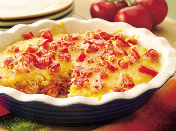Chicken-Chile Enchilada Pie