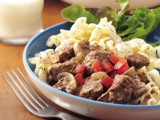 Slow Cooker Herbed Beef Stroganoff