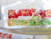 Raspberry Lime Poke Cake