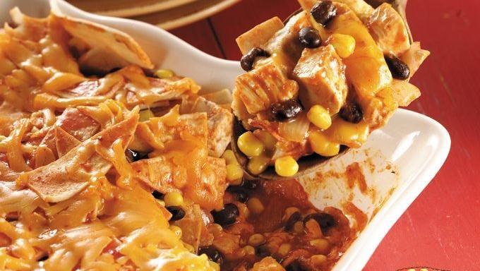 Chicken, Black Bean and Corn Enchilada Casserole recipe - from ...