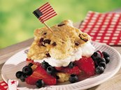 Red, White and Blue Shortcake Stars