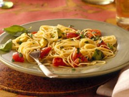 Image of Angel Hair Pasta With Avocado And Tomatoes, Betty Crocker