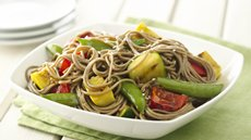 Sesame Ginger Grilled Vegetables and Soba Noodles Recipe