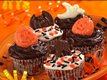 Spooky Banana-Fudge Cupcakes