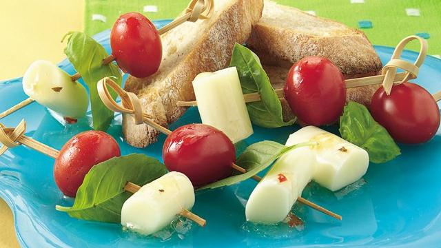 Tomato, Basil and Cheese Sticks